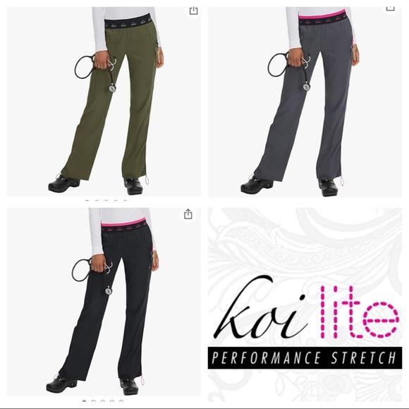 THREE Scrub Pants - Koi Lite Spirit | L Petite